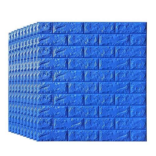 KUNYI 3D Wandpaneele for Innen Wand-Dekor-Blau Brick Wallpaper (Size : 10 Pack)