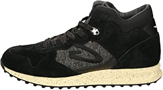 patwin High-Top Sneaker Nera in camoscio e Tessuto