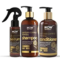WOW Skin Science Hair Loss Control Therapy Kit – consists of Shampoo, Conditioner & Hair Serum – Net Vol 700mL