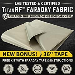 ✅ TRUSTED PERFORMANCE - Do not compromise your RF shielding with low-grade faraday fabric! TitanRF has the highest conductivity. TitanRF is the same type of fabric used by military for secure communications, digital forensics, and signal isolation/bl...