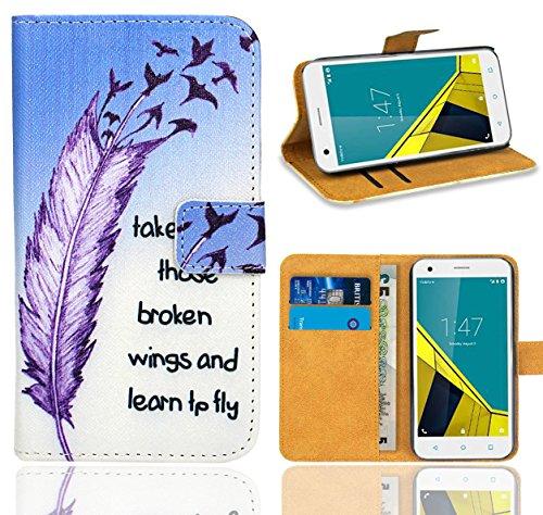 Vodafone Smart Ultra 6 Handy Tasche, FoneExpert® Wallet Hülle Flip Cover Hüllen Etui Ledertasche Lederhülle Premium Schutzhülle für Vodafone Smart Ultra 6 (Pattern 7)