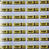 StickersLab - 100 ETICHETTE ADESIVE SIGILLO DI GARANZIA CON ID SERIALE, MESE ED ANNO...