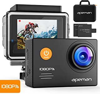 APEMAN Action Camera 4K 20MP WiFi Ultra HD Underwater Waterproof 40M Sports Camcorder with 170 Degree EIS Advanced Sensor, 2 Upgraded Batteries, Portable Carrying Bag and 24 Mounting