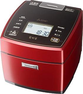 三菱電機 IH炊飯器 日本製 5.5合 備長炭炭炊釜 豊富な炊き分け 赤紅玉 NJ-VXA10-R