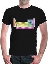 buXsbaum® Herren Unisex Kurzarm T-Shirt Bedruckt Periodensy