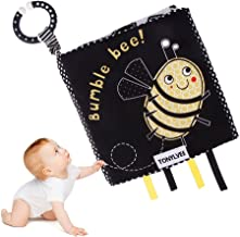 FANKUTOYS My First Soft Book, Bee Baby Interactive Book Cloth Books Nontoxic Fabric Baby Activity Crinkle Cloth Book Early Educational Toys for Baby, Toddler, Infants and Kids