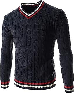 NOBRAND New Winter Mens V-Neck Twist Sweater Long Sleeve Thick Mens Slim Knit