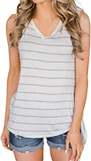 VESKRE Women's Summer Bandage V-Neck Tank Tops Club Sportst Patchwork Vest Short