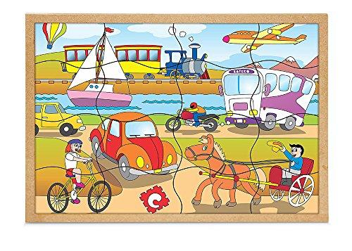 Carlu Brinquedos - Quebra-Cabeça, 4+ Anos, 16 Peças, Color Multicolorido, 1193