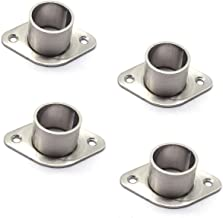 MTMTOOL Stainless Steel Wardrobe Bracket O-Shaped Closet Rod End Supports Closet Pole Sockets Flange Rod Holder,1