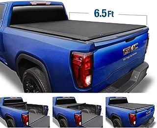 Tyger Auto T1 Soft Roll Up Truck Bed Tonneau Cover for 2014-2019 Chevy Silverado / GMC Sierra 1500; 2015-2018 Silverado / Sierra 2500 HD 3500 HD   Fleetside 6.5 Bed without Utility Track   TG-BC1C9007