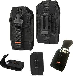 Rugged Vertical Heavy Duty Tactical Locking Wallet Case with Belt Loop fits BlackBerry KEYone.