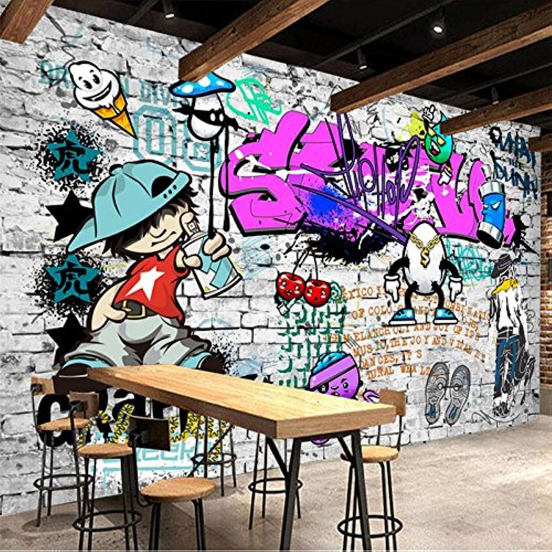 punto de venta de la marca Yosot 3D Papel Pintado Personalizado Mural Papel Pintado Moda Moda Moda Calle Arte Graffiti Hip-Hop Decoración De La Parojo De Ladrillo Papel Tapiz Decorativo-200Cmx140Cm  nuevo listado