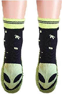 childrens slipper socks leather sole