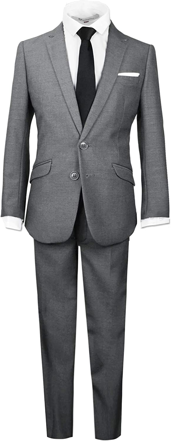 Black n Ranking TOP12 Bianco Signature Boys' Outfit Slim Complete Gifts Fit Suit