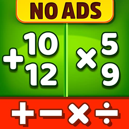 Math Games - Addition, Subtraction, Multiplication and Division Learning Games For 1st, 2nd, 3rd, 4th, 5th Graders, Free on Kindle Fire