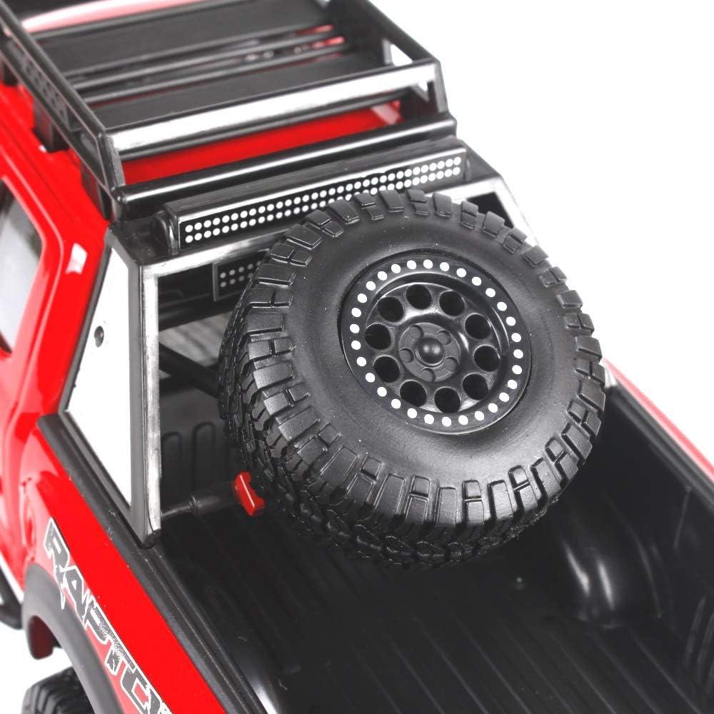 2017 Ford F150 pick-up modelauto, 1:24 statische simulatie gegoten carkit, metalen carrosserie, geschikt voor jongens, meisjes en auto-amateurs 25 × 11 × 10 cm (Color : Blue) Red