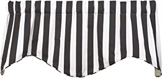 Window Treatments Valance Curtains Kitchen Window Valances or Living Room Black and White Curtains Striped Curtains