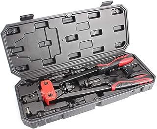 MOUTEC 14-inch Heavy Duty Hand Rivet Nut Setter Kit -Metric&SAE W/90pc Rivnuts.