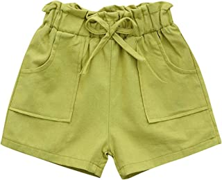 Surprise S Girls Kids Bowknot Solid Beach Shorts Pant Clothes Summer Girls Pants Baby Girls Shorts