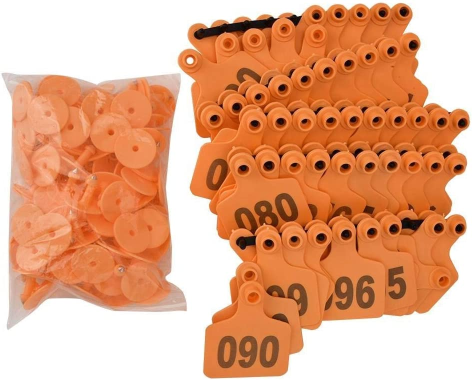 Conlense 1-100 Number Plastic Livestock G for Max 55% OFF Ear Challenge the lowest price of Japan ☆ Animal Tag