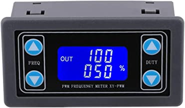 PWM Frequency Meter, Yeeco 1Hz-150KHz 0-100% Adjustable PWM Square Wave Pulse Signal Generator 3.3-30V 5V 12V 24V Frequency Duty Cycle Module with Protective Shell LCD Display