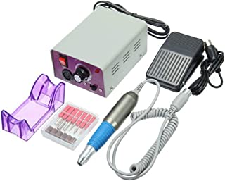 電気マニキュアネイルクリーニングエージェントネイルドリル充填機ペダルグラインダー25000トランスファーベルトペダル