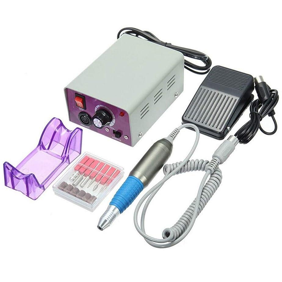 倍率カポック味方電気マニキュアネイルクリーニングエージェントネイルドリル充填機ペダルグラインダー25000トランスファーベルトペダル