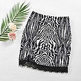 Falda para Mujer,Cintura Elástica Negra Falda Corta De Tubo