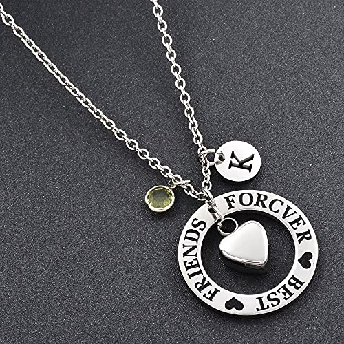 TYBM Ashes Memorial Best Friends Forever Cremation Memory Necklace Soot Souvenir Self-Selected Jewelry Birth-M_February