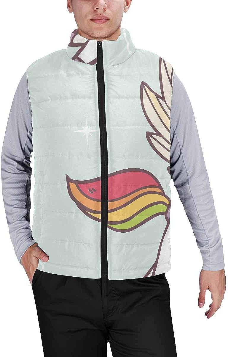 InterestPrint Men's Soft Full Zip Sleeveless Jacket for Running, Hiking Cute Halloween Character