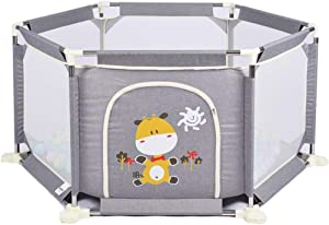 Activity Centres Girl Play Fence Children s Indoor Home Security Fence Boy Toddler Crawling Mat  Color Gray  Size 155 132 73cm