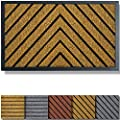 Extra Durable Door Mat Outdoors - Brown Door Mat - Entry Rug - Outdoor Door Mat - Non-Slip Waterproof Thin Doormat Outdoor Doormat Indoor (30 x 18) - Inside Doormat and Back Door Mat - Rubber Door Mat
