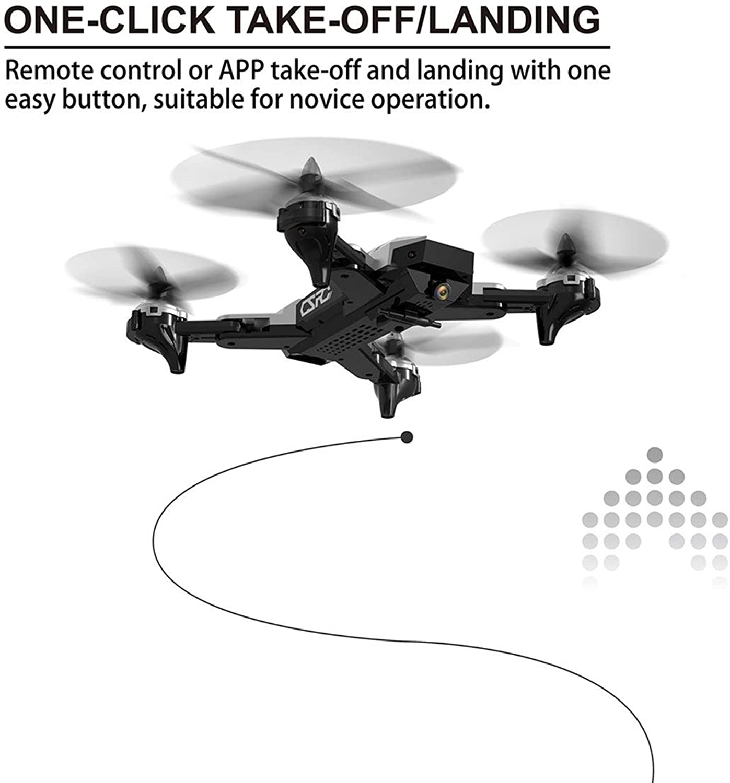 Quadricottero pieghevole CS-7 con 4 canali 6 assi Gyro UAV 1080P Velocità teletelecamera regolabile Modalità senza testa Droni sensibili tuttia gravità (Coloreee  argentoo)