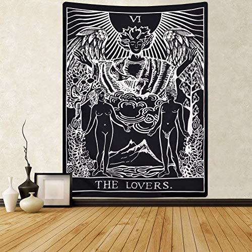 Tapiz de Tarot Cards The Lovers Tapiz, Tapiz de adivinación para habitación