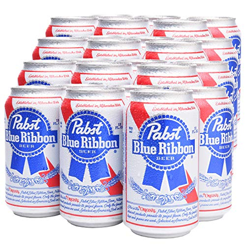 PABST BLUE RIBBON® - Amerikanisches Dosenbier [24er Pack] 24 x 355ml US Bier, American Beer | Amerikanische Getränke als Original Importware, auch als perfektes Bier Geschenk für Männer (inkl. Pfand)