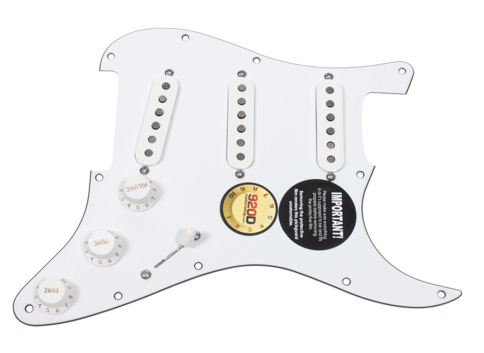 pre wired guitar pickups amazon comfender tex mex 920d loaded pre wired strat pickguard, white white