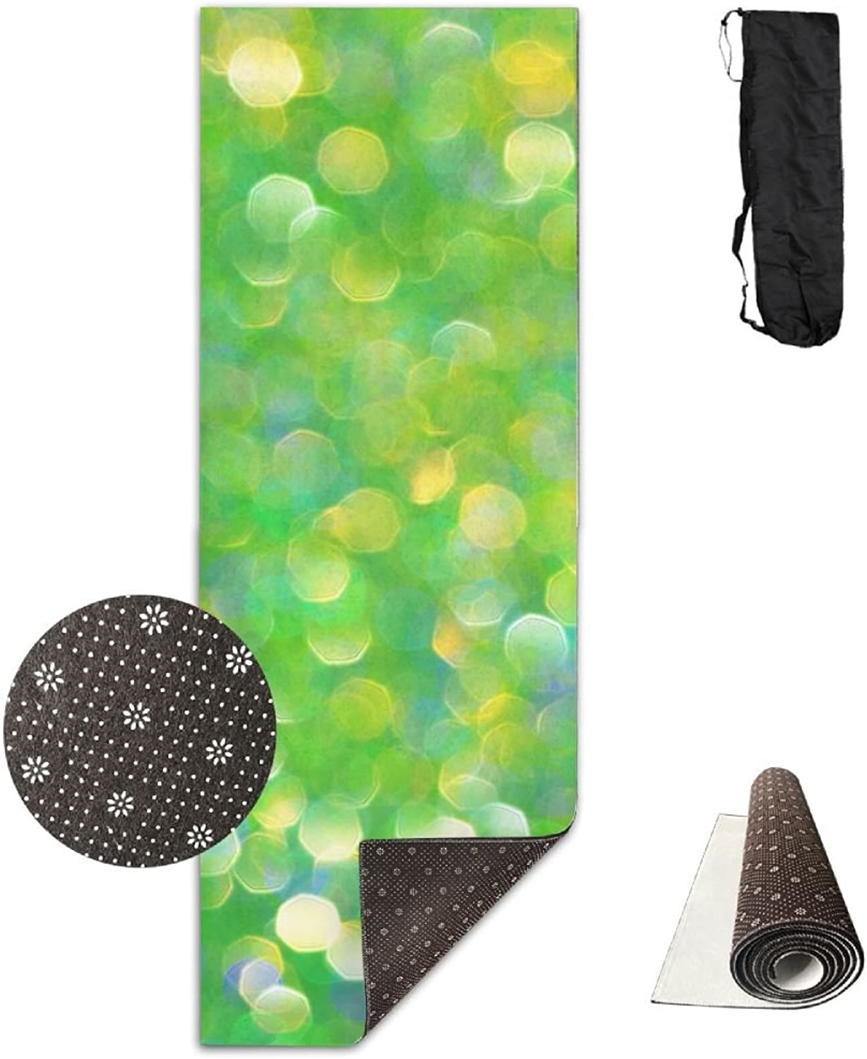 Gym Mat Green Fitness High Density AntiTear Exercise Yoga Mat With Carrying Bag For Exercise,Pilates