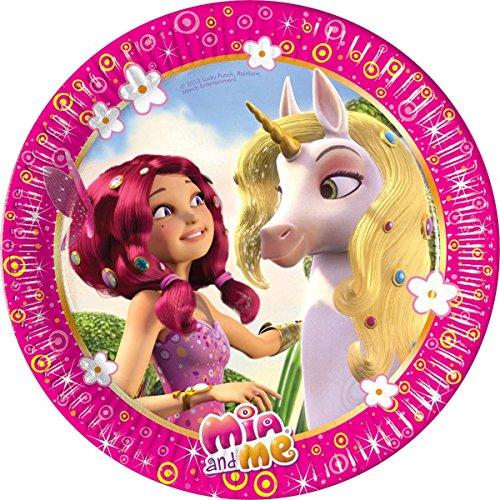 8-teiliges Teller-Set * MIA and ME * für Geburtstagsfeier oder Motto-Party // Kinder Geburtstag Party Pappteller Partyteller Plates Abenteuer in Centopia Pony Einhorn