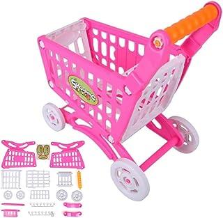 Barns shoppingvagn, dubbelskikts barnvagn för simulering, barnvagnar leksaker, barns rollspel, miljövänlig, giftfri och hå...