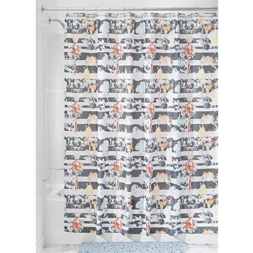 Price comparison product image InterDesign Nori Fabric Shower Curtain,  183 x 183 cm - Pastel Charcoal Gray