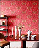 Blooming Wall Peel and Stick Vintage Pink Red...