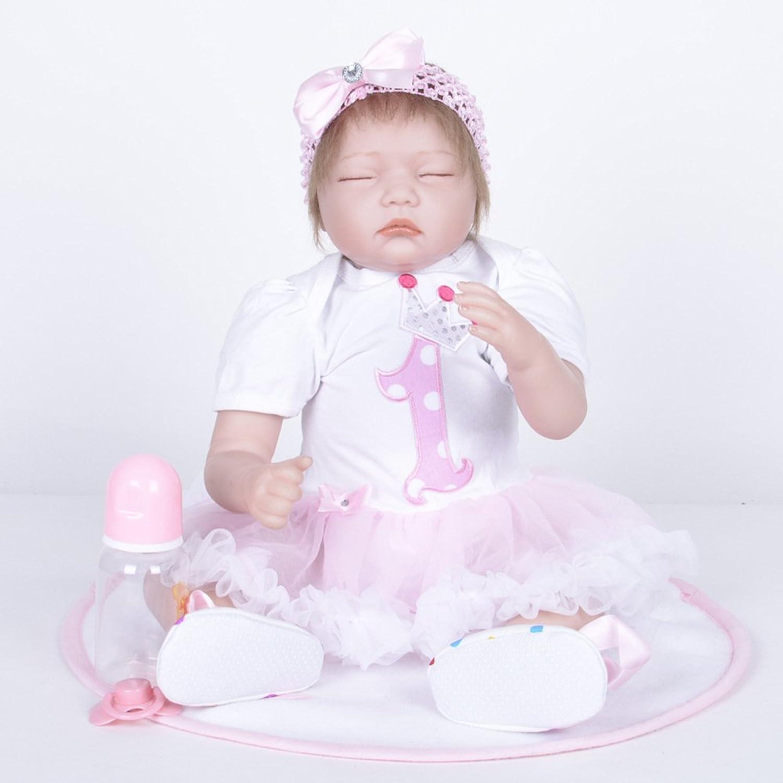 JHGFRT Wiedergeborenes Baby - Puppensimulation Weiches Silikon Neugeborene Schlafpuppe Kinderspielzeug 55 cm,A B07FJPC1SY Jeder beschriebene Artikel ist verfügbar   Große Klassifizierung