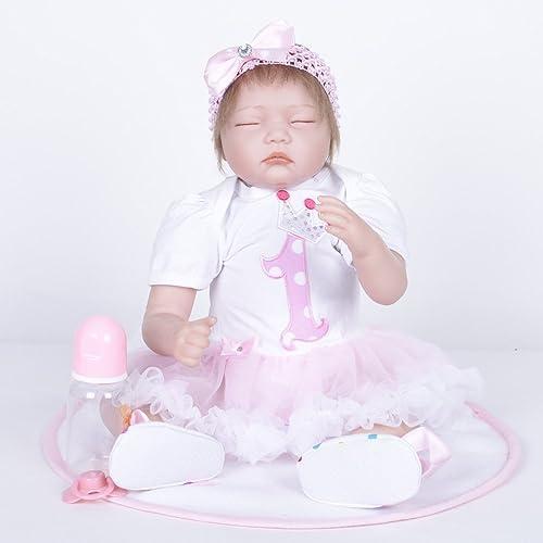 LIJUN Wiedergeburt Puppe Simulation Spielzeug Puppe Kinder Spielzeug 55 cm,A