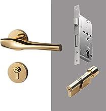 Moderne Luxe Goud Slaapkamer Deurklink Lock Beveiliging Entry Split Stille Lock Deur Meubels Indoor Deurklink Lockset G725...