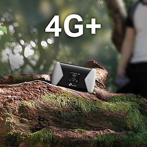 TP-Link M7450 mobiler WLAN Router (4G/LTE bis zu 300Mbit/s Download/ 50Mbit/s Upload, Hotspot, Cat6, 3000mAh Akku, LCD Display, kompatibel mit allen europäischen SIM Karten) schwarz/silber