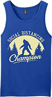 Social Distancing Champion Sasquatch Bigfoot Tank Top