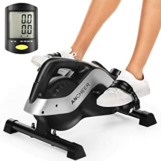 ANCHEER Pedal Exerciser, Under Desk Bike for Leg and Arm Exercise with LCD Monitor