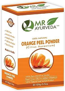 MR Ayurveda 100% Organic Orange Peel Powder for Glowing Skin, 100 Gm