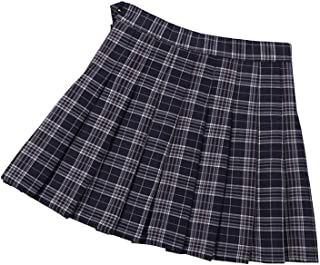 Little Big Girl's Pleated Plaid Skirt Japan School Girl Uniform Mini Short Scooters Skorts